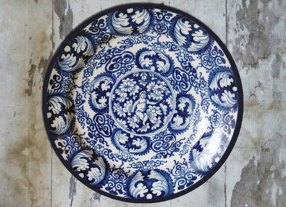 Royal Blue Delftware Wall Plate Décor