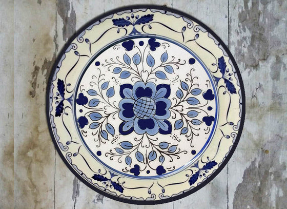 Hand-painted Dutch Ceramic Wall Plate