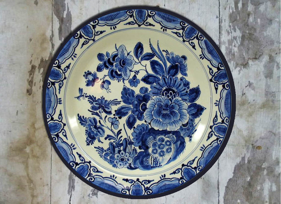 Floral Dutch Design Ceramic Wall Plate & Buy Floral Dutch Design Ceramic Wall Plate at Lowest Rates On ...