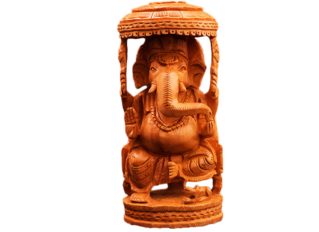 Decorative wooden Ganpati statue
