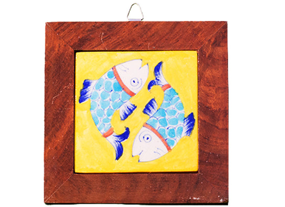 Decorative yellow fish design