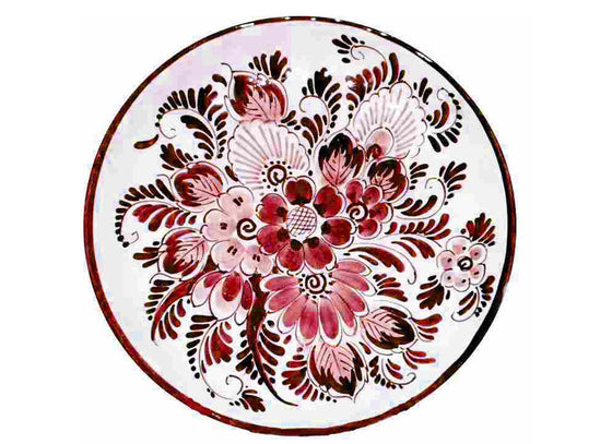 Delftware Ruby red wall plate
