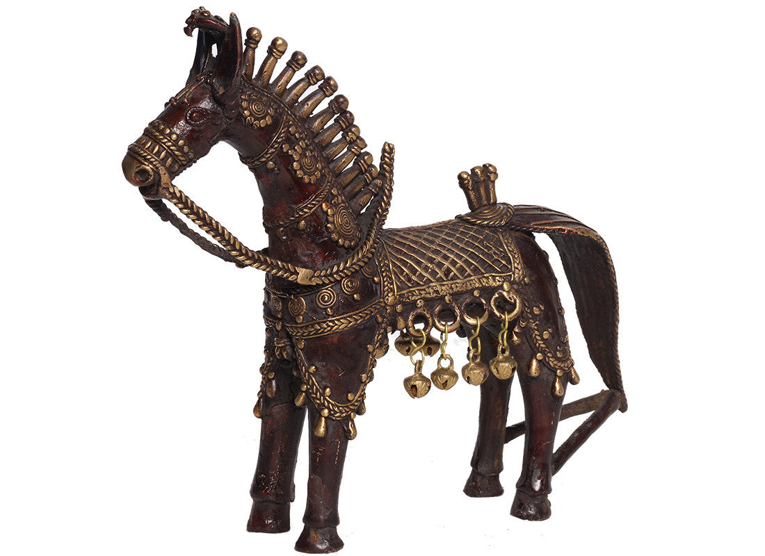 Dhokra Horse showpiece