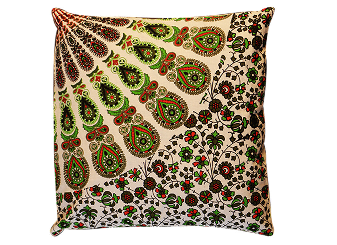 Dome print green Rajasthani cushion covers