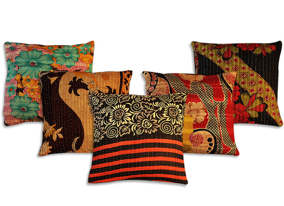 Ethnic Kantha Cushion Cover
