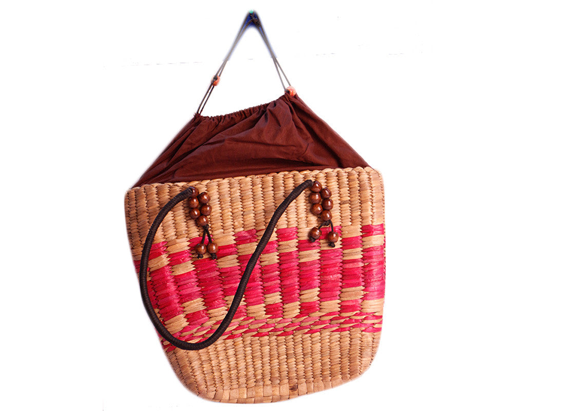 Ethnic woven Cane Purse