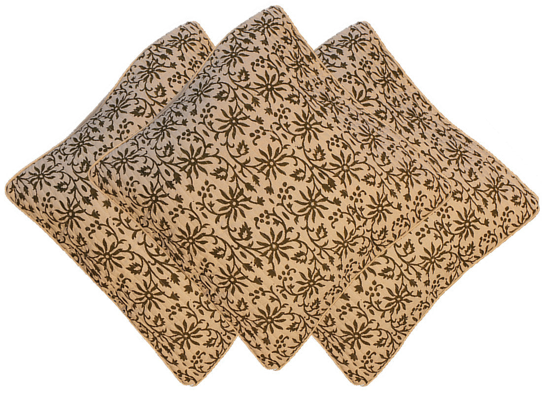 Floral brown coloured design