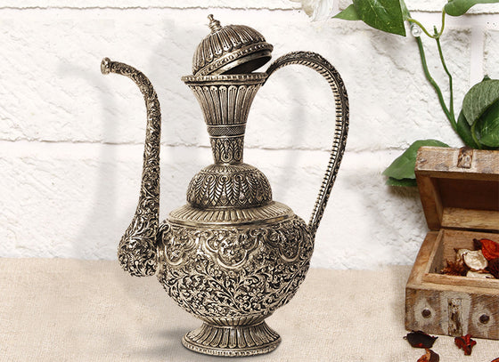 antique metal jug