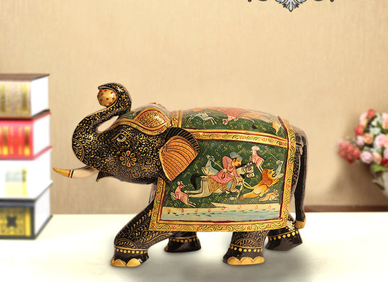 makrana designed elephant showpiece