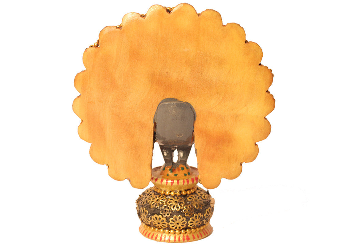 Golden peacock Showpiece