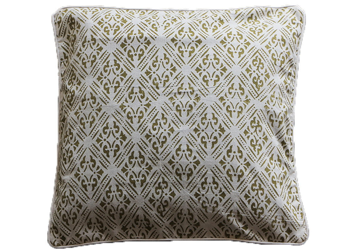 Handcrafted rajasthani kantha work cushion cover