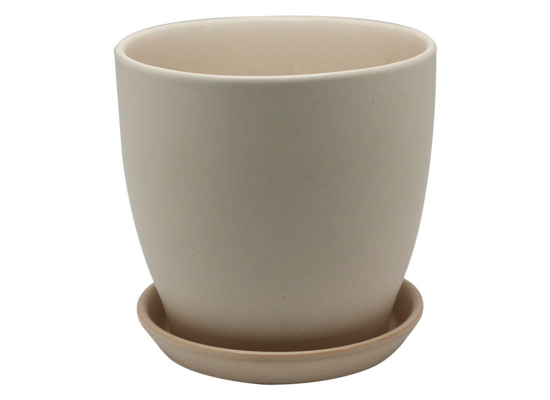 Beige Ceramic Pot Planter