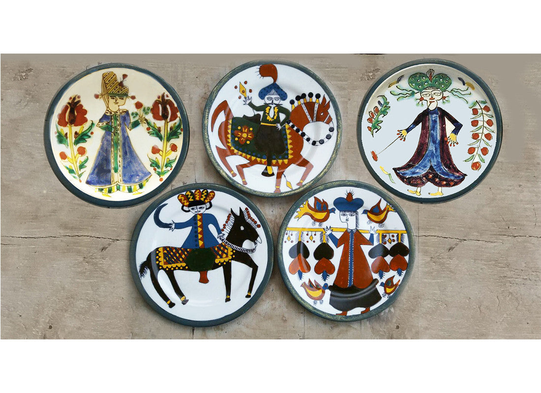 Hand-painted characters Turkish style wall plate
