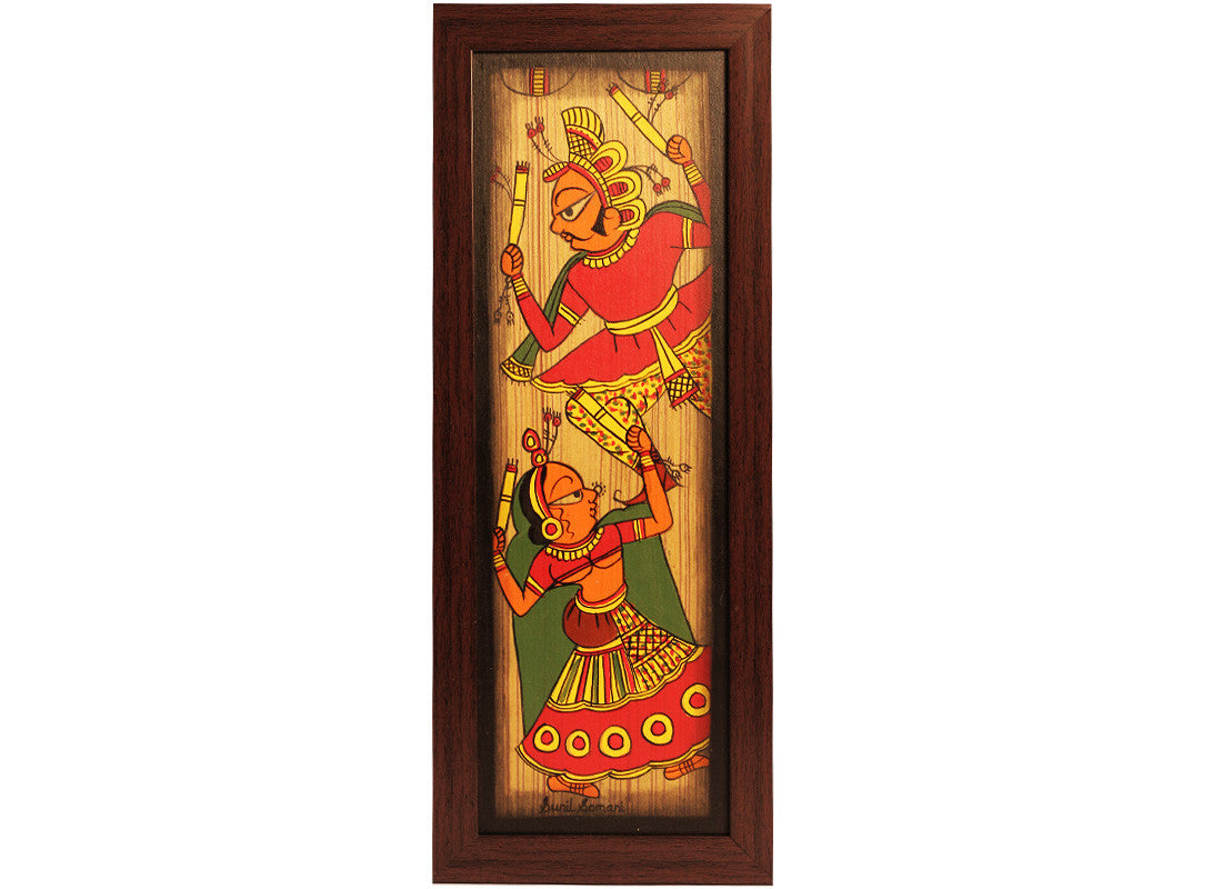 Handcrafted Folk Dancer Phad Painting