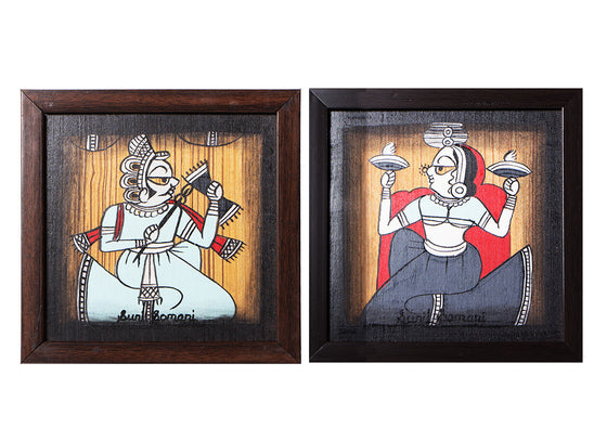 Handcrafted Phad Wall Painting Set of 2