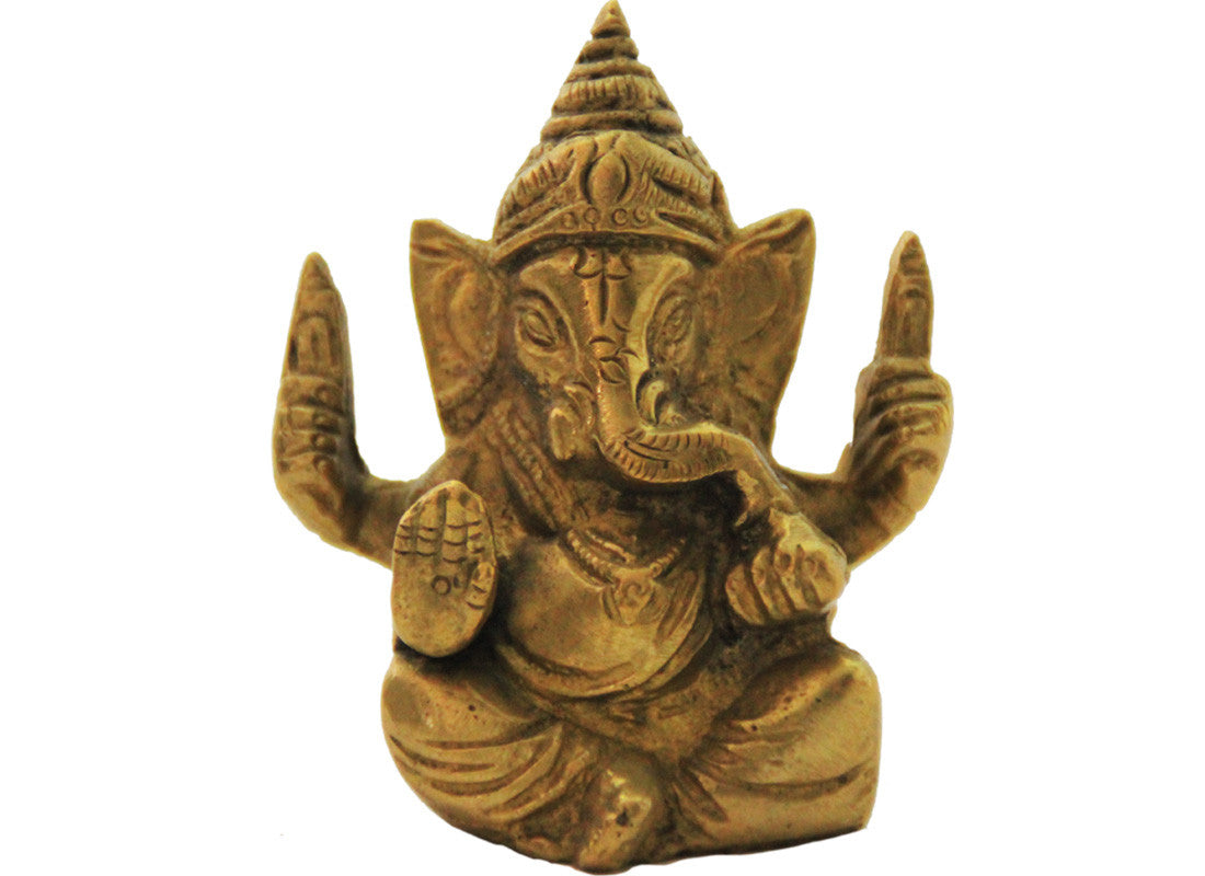 Handcrafted brass metal Ganesha