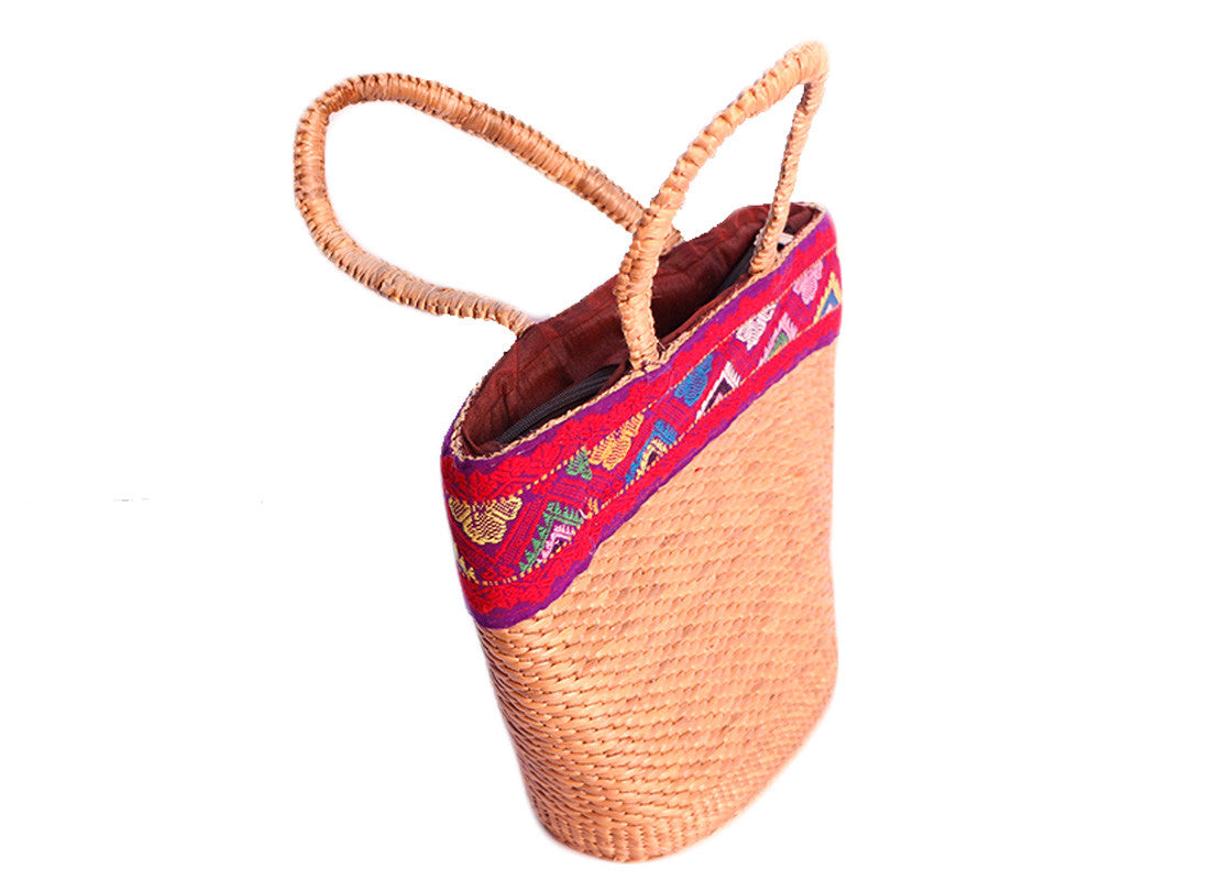 Handcrafted Cane Multicolor Purse