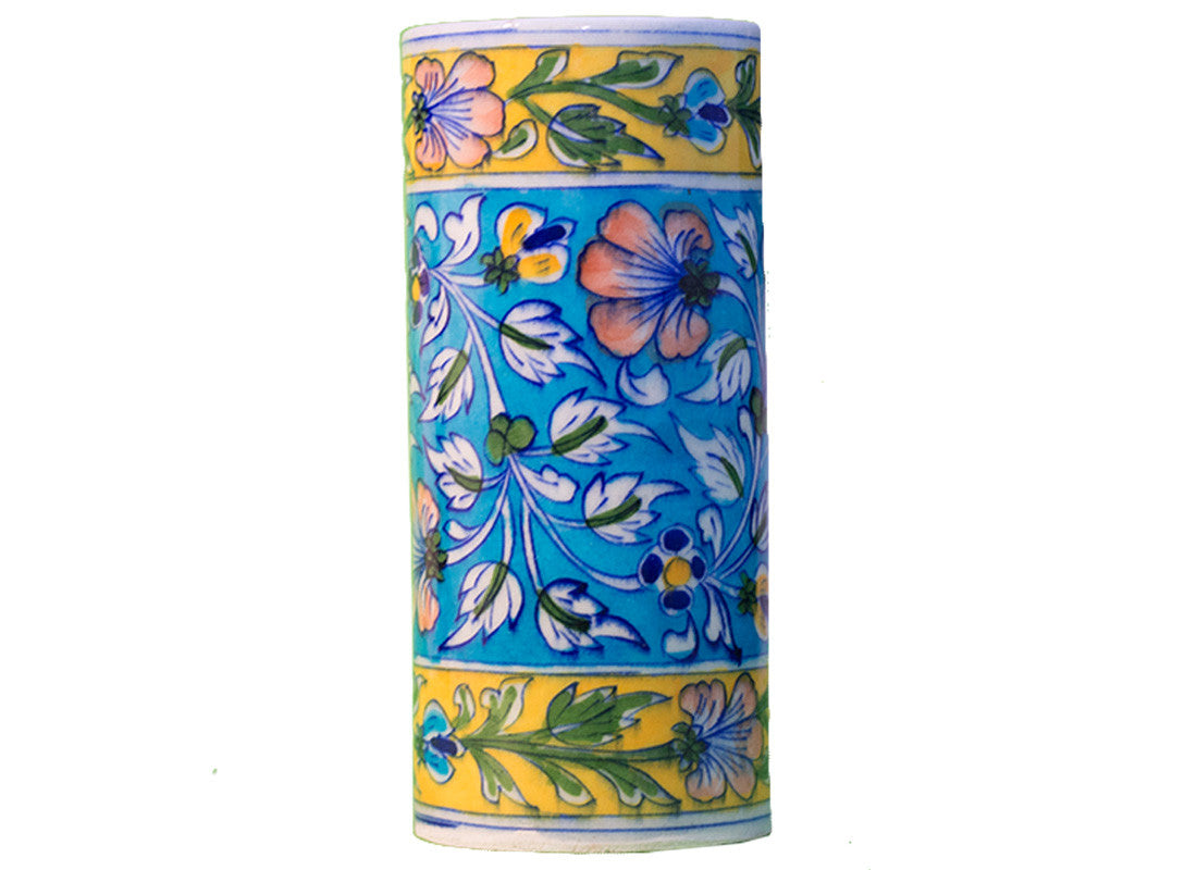 Handcrafted pottery tall flower vase