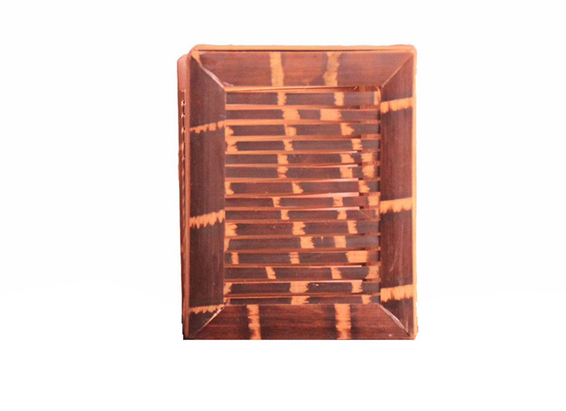 Handcrafted Square Bamboo Pen Holder