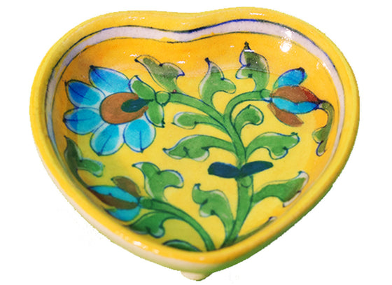 Yellow decorative serving dish