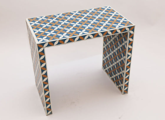 Rectangle Stool Flower Of Life  Pattern