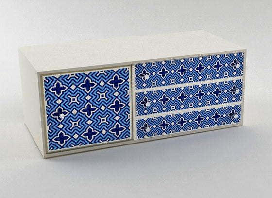 Morrocan Painted Sideboard Drawers