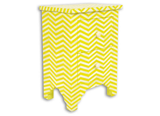 Bed Side Chest Chevron Pattern