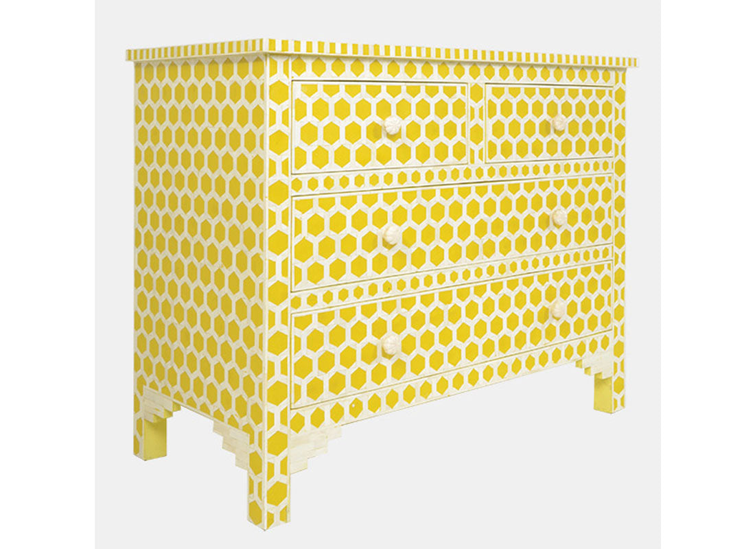 Dresser Chest Honeycomb Geometry Pattern
