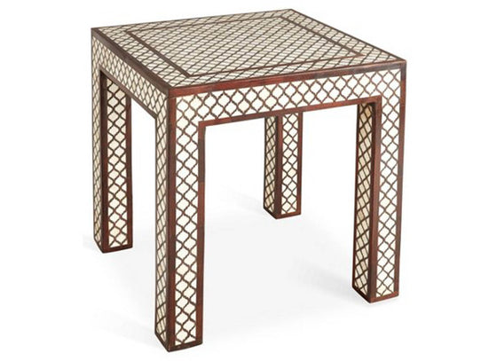 Moroccan Pattern Inlay Stool