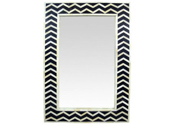 Chevron Pattern Mirror Art Deco