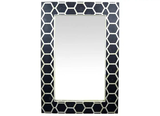 Honeycomb Pattern Mirror Art Deco