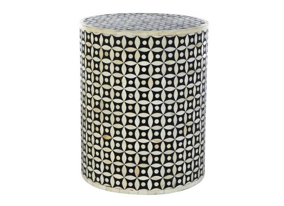 Round Muddi Stool Curved Diamond