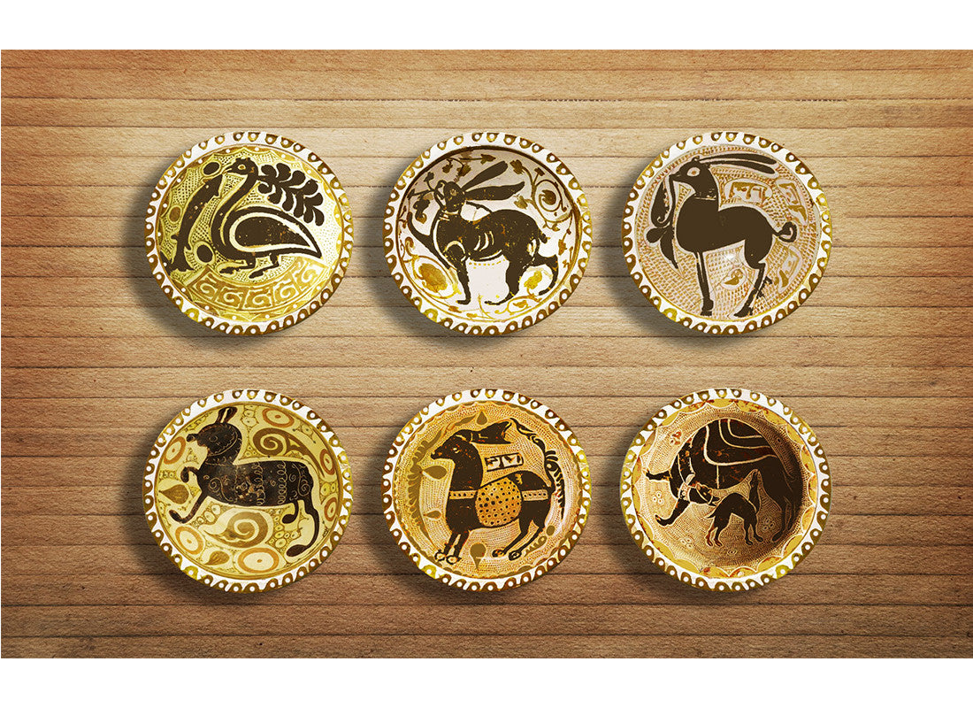 Buy Iranian Art Ivory Wall Hanging Plates at Lowest Rates On ...