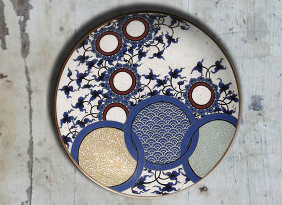 Hand-Painted 'Japanese' Wall Plate