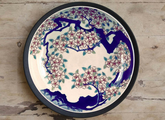 Exquisitely Handpainted Japanese Detail Plate