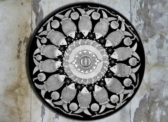 Fish intricate design wall plate