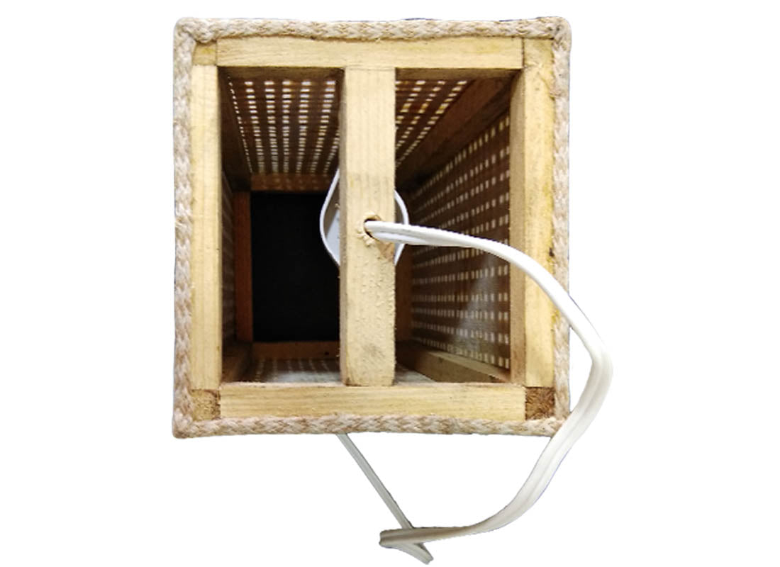 Square Hanging Cane Lamp