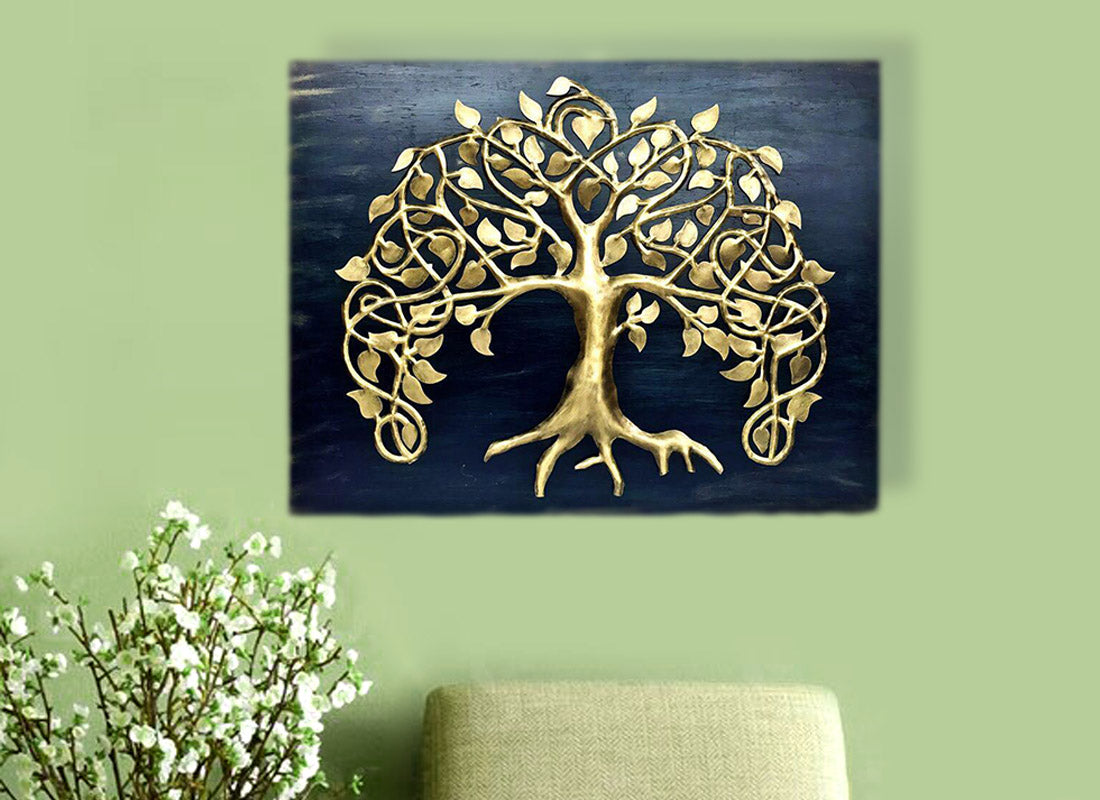 European Golden Tree Wall Frame Decor