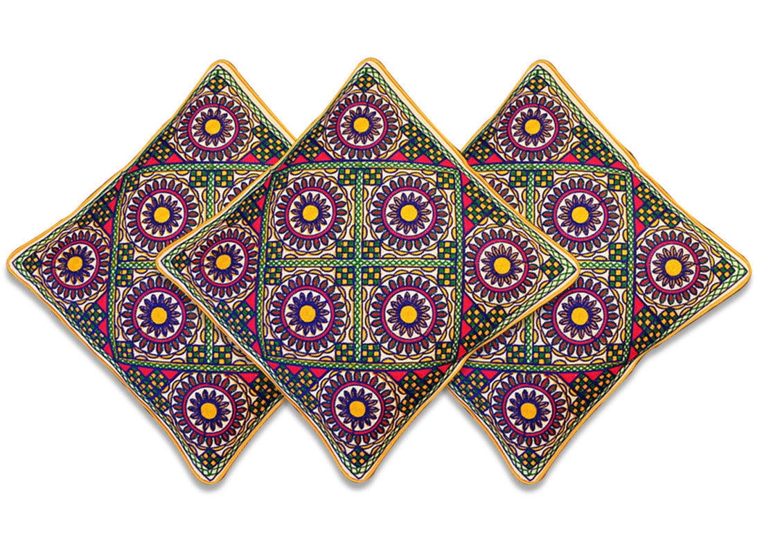 Kantha embroidery work cushion covers