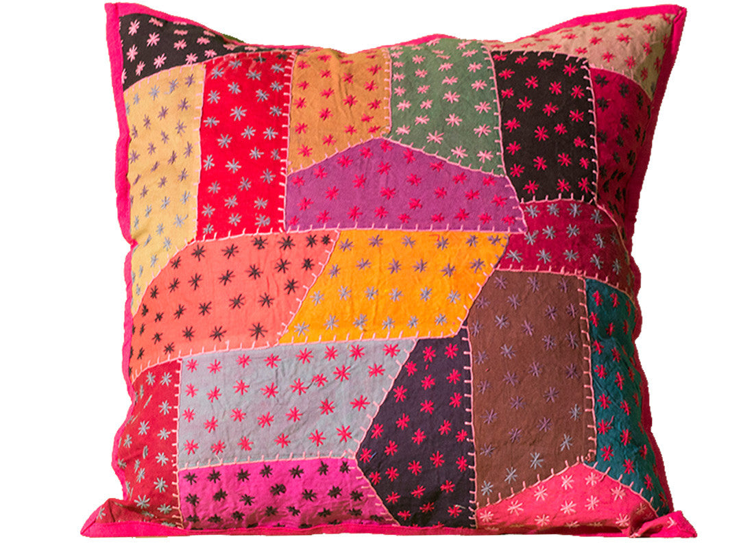 Kantha patch cushion covers