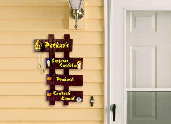 Ladder Shape Wooden Name Plate