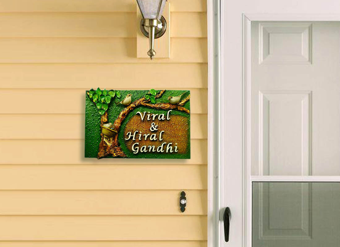 Buy Tree Bark with Bird Design Name Plate at Lowest Rates On ...