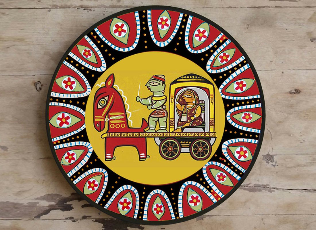 Buy Ethnic Madhubani Art Ceramic Wall Hanging Décor at Lowest Rates ...