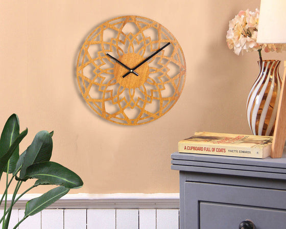 Antique Carved Design Wooden Wall Clock
