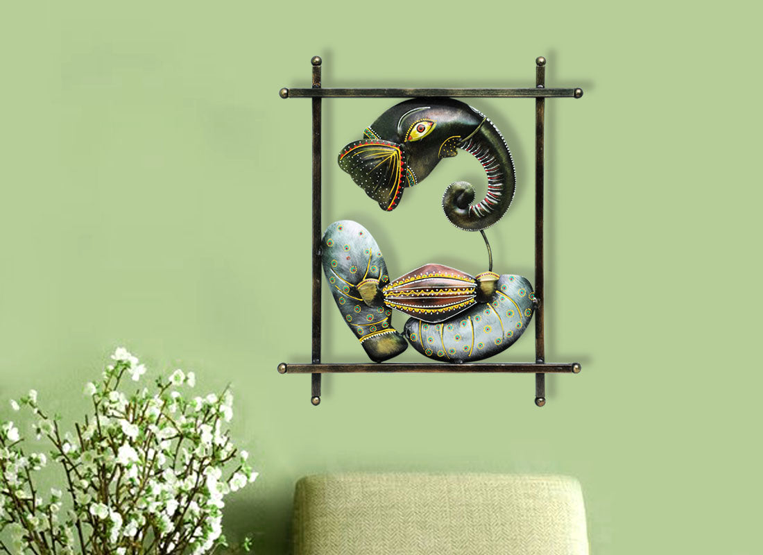 Decorative Ganesha with Drum Wall Hanging
