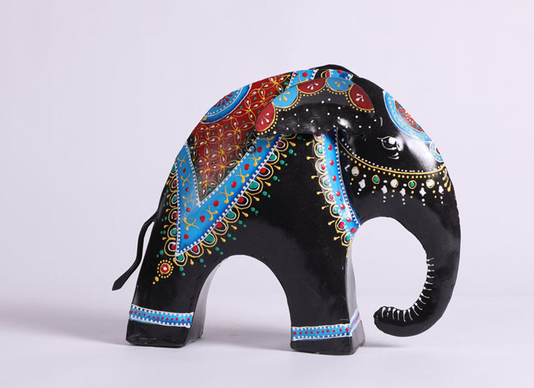 Black Elephant Figurines