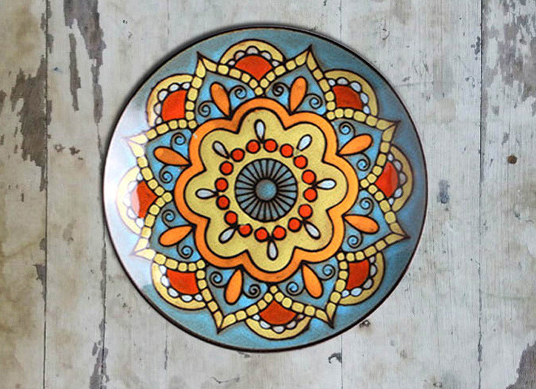 Buy Moroccan Pottery Ceramic Wall Decor Plate At Lowest Rates On