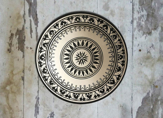 Black & White Moroccan Wall Plate