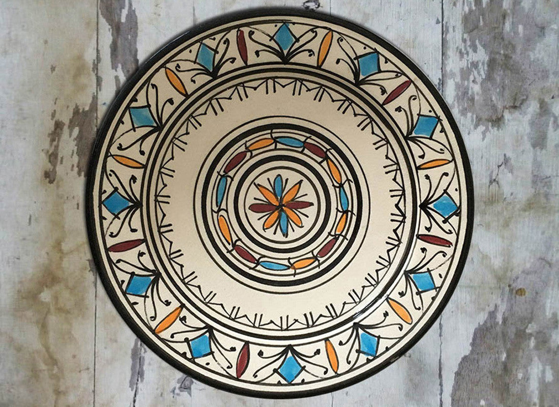 Abstract Design Moroccan Ceramic Wall Plate