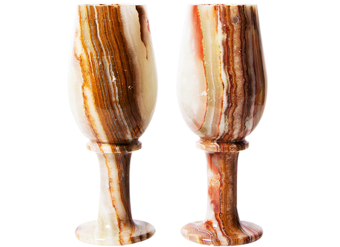 Marble Handcrafted Glass Set